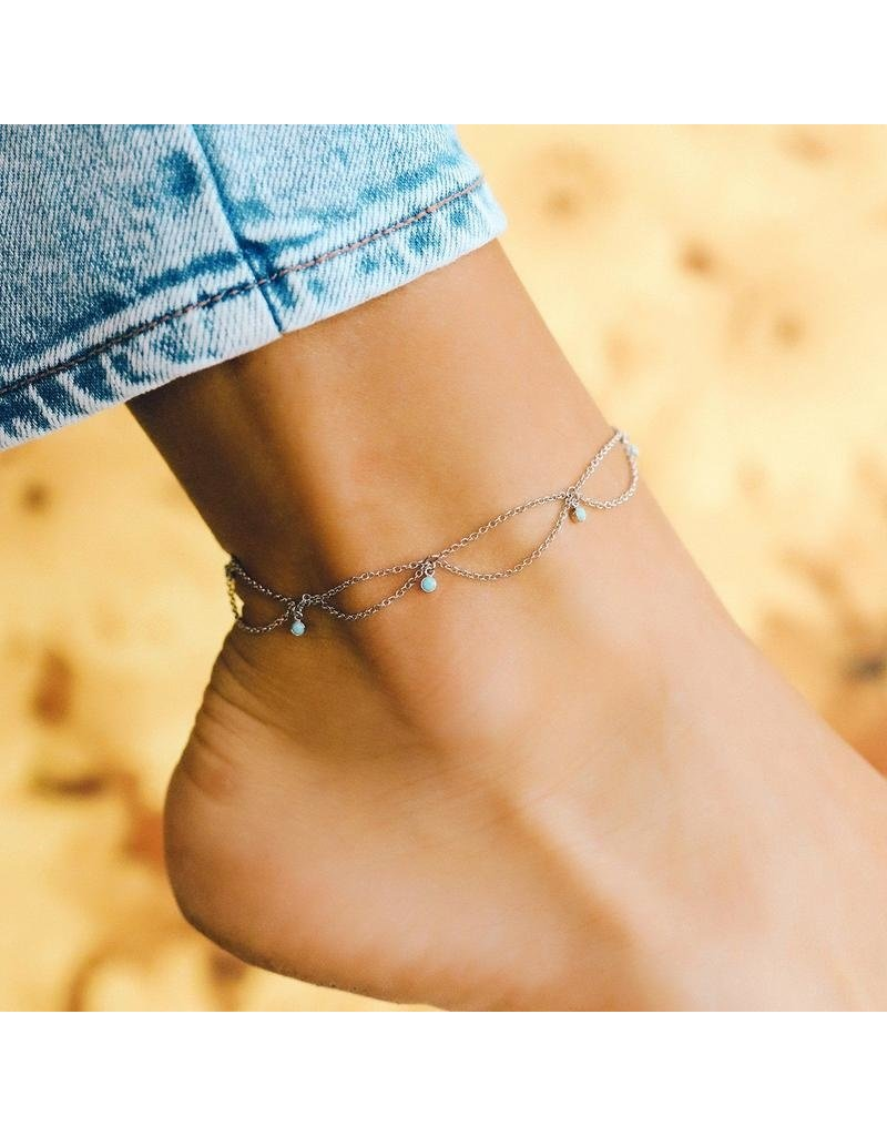Pura Vida Bracelets Bondi Anklet