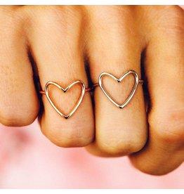 Pura Vida Bracelets Statement Heart Ring