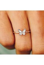 Pura Vida Bracelets Butterfly In Flight Ring