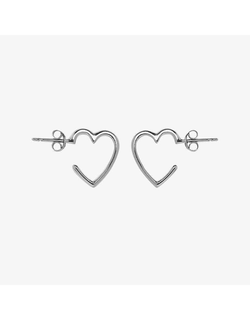 Pura Vida Bracelets Heart Hoop Earrings