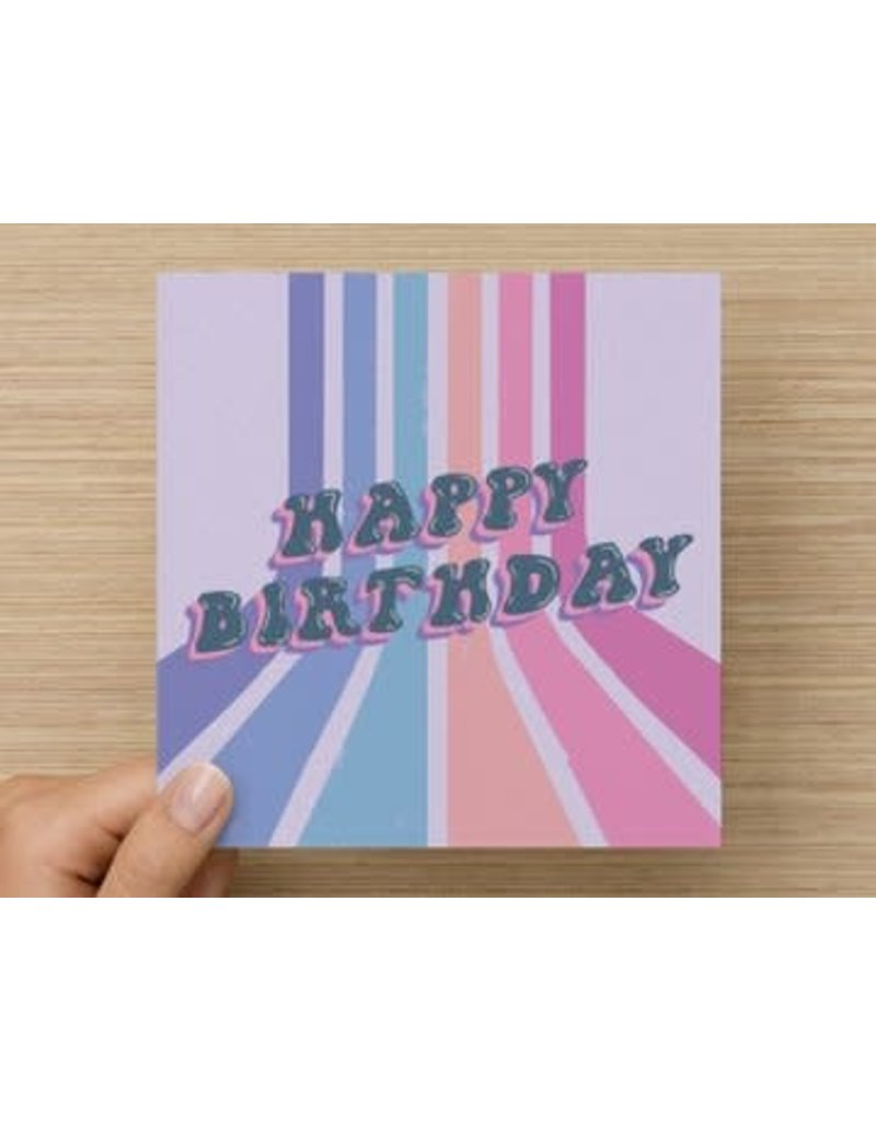 The Circle Happy Birthday Card - jellybean