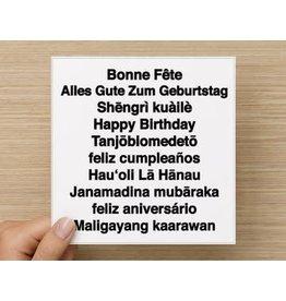 The Circle Happy Birthday Card - Multi Cultural