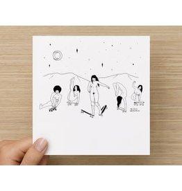 The Circle Naked Skater ladies card