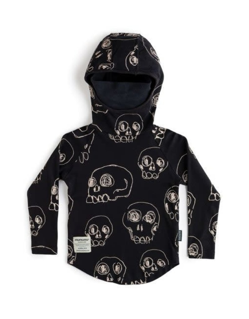 nununu Scribbled Skulls Ninja Shirt