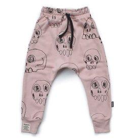 nununu Scribbled Skulls Baggy Pants