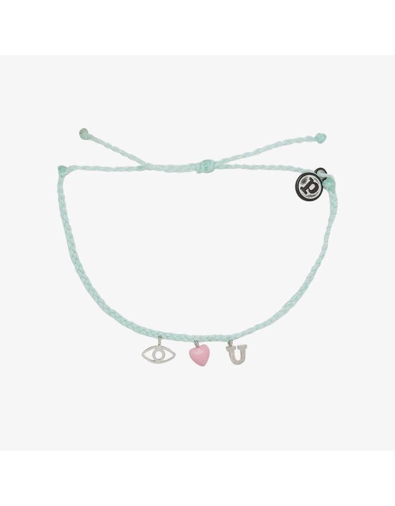 Pura Vida Bracelets Eye Love You Charm Bracelet