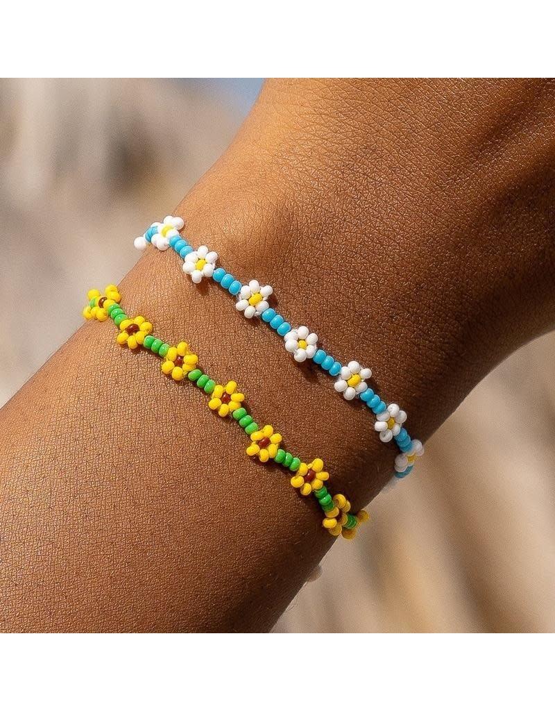 Pura Vida Bracelets Flower Seed Bead Bracelet