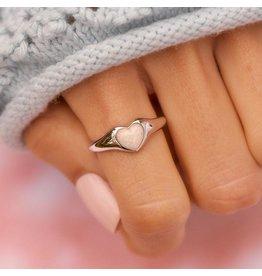 Pura Vida Bracelets Stone Heart Signet Ring
