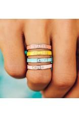 Pura Vida Bracelets Enamel Word Ring
