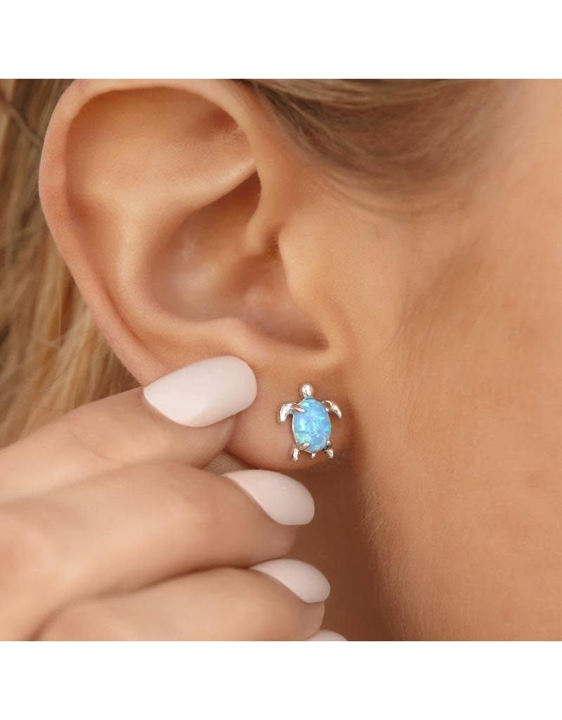 Pura Vida Bracelets Opal Sea Turtle Earrings