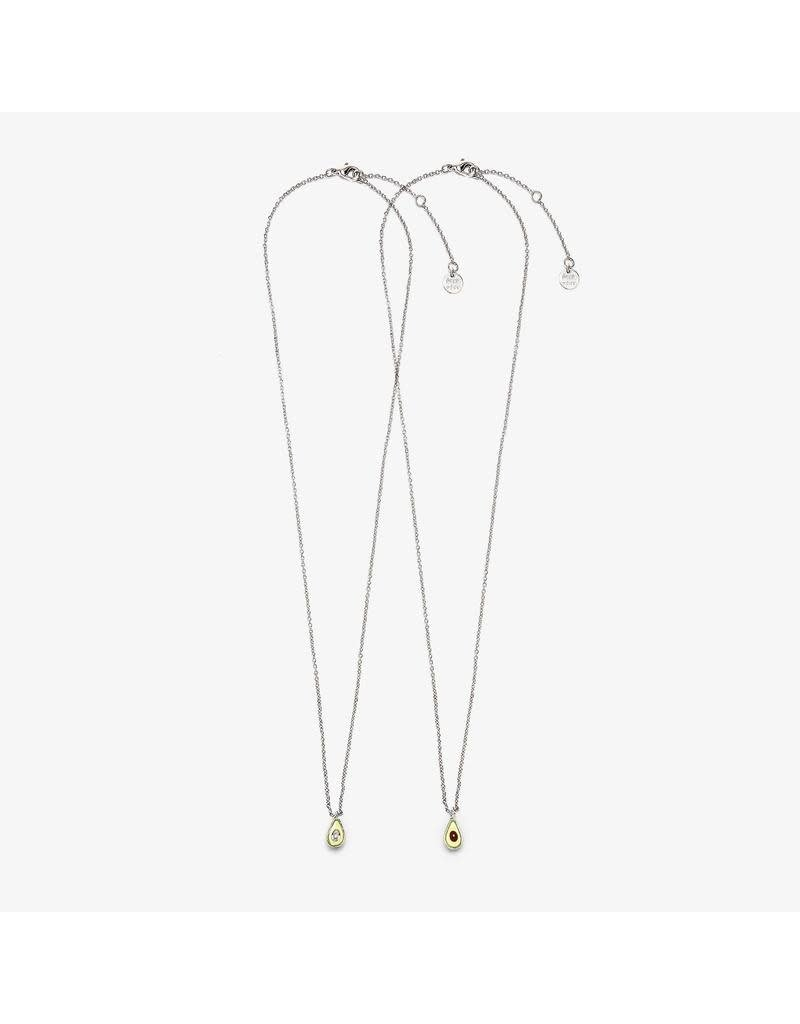 Pura Vida Bracelets BFF Avocado Necklace Set