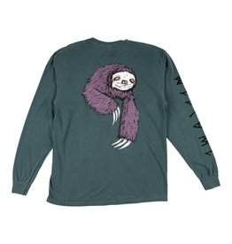 Welcome Sloth Garment Dyed L/S Tee