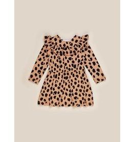 HuxBaby Animal Frill Neck Dress