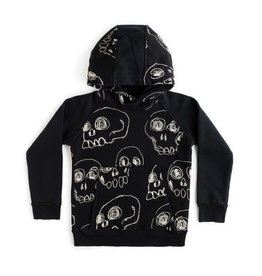 nununu Scribbled Skulls Hoodie
