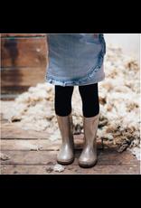 Lamington Kids Merino Wool Flat Knit Plain Tights