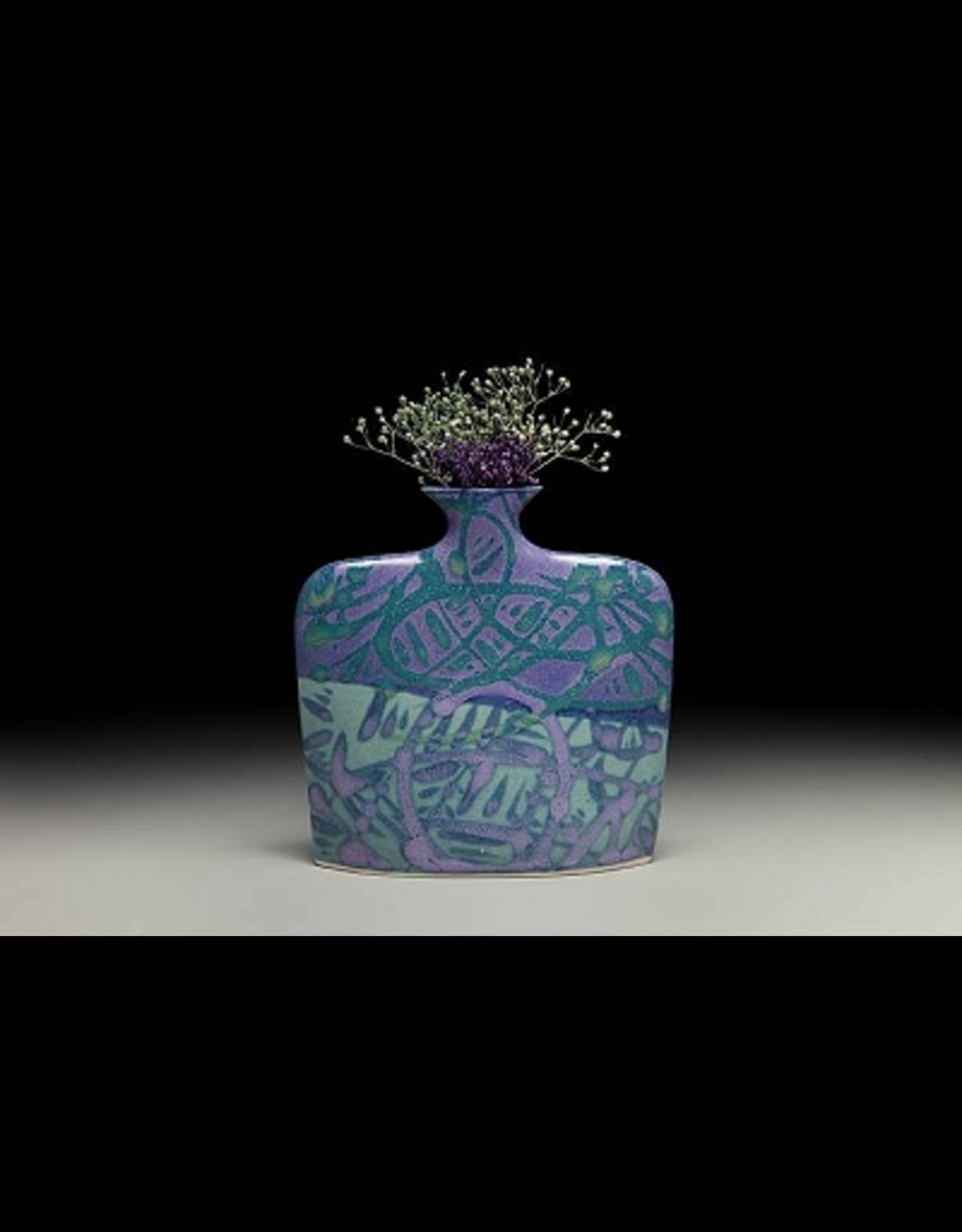 Earth & Sky Pottery Porcelain Slab Flower Vase (Md)