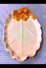 Charlestowne Porcelaine PLATTER (Antipasti, Palm Leaf, #86, CHAP)