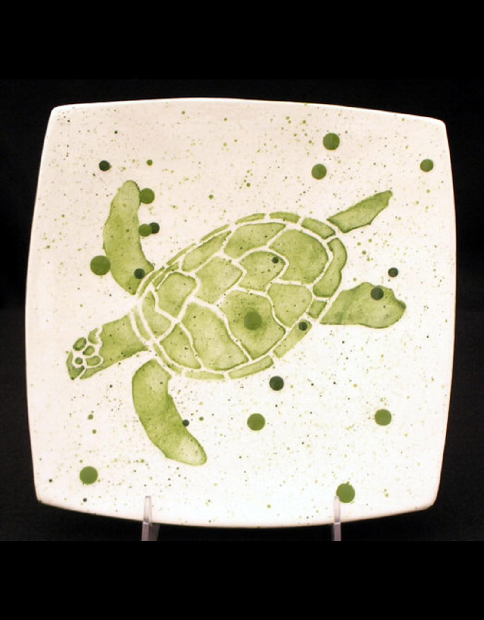 "Sara Hunter Plate (Sea Turtle, 8.5""SQ., SARH)"
