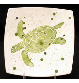 "Sara Hunter Plate (Sea Turtle, 8.5""SQ.)"