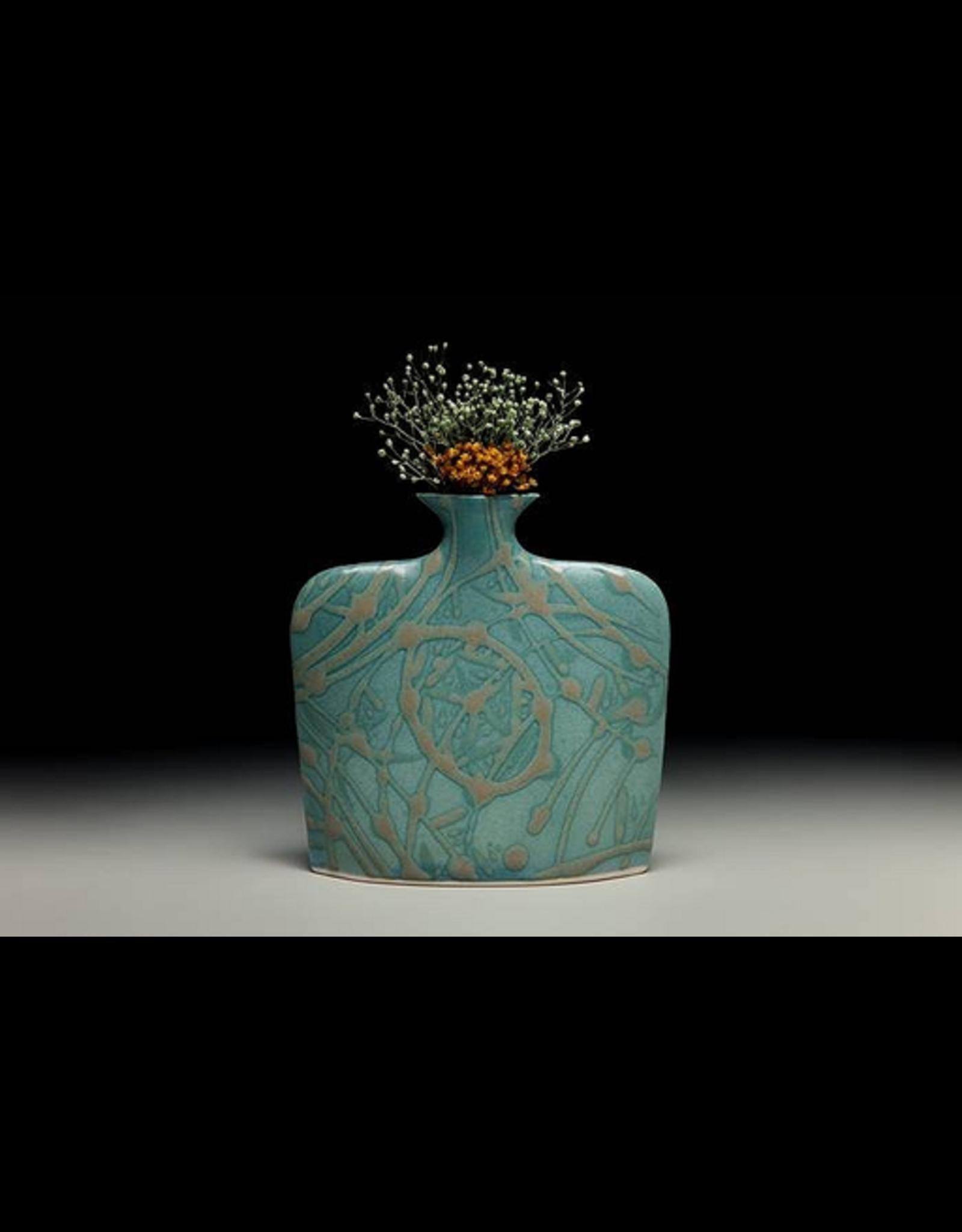 Earth & Sky Pottery Porcelain Slab Flower Vase (Sm)