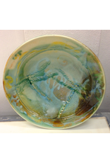 """Gail Snively BOWL Carved, 10.5""""d,  GAIS"""