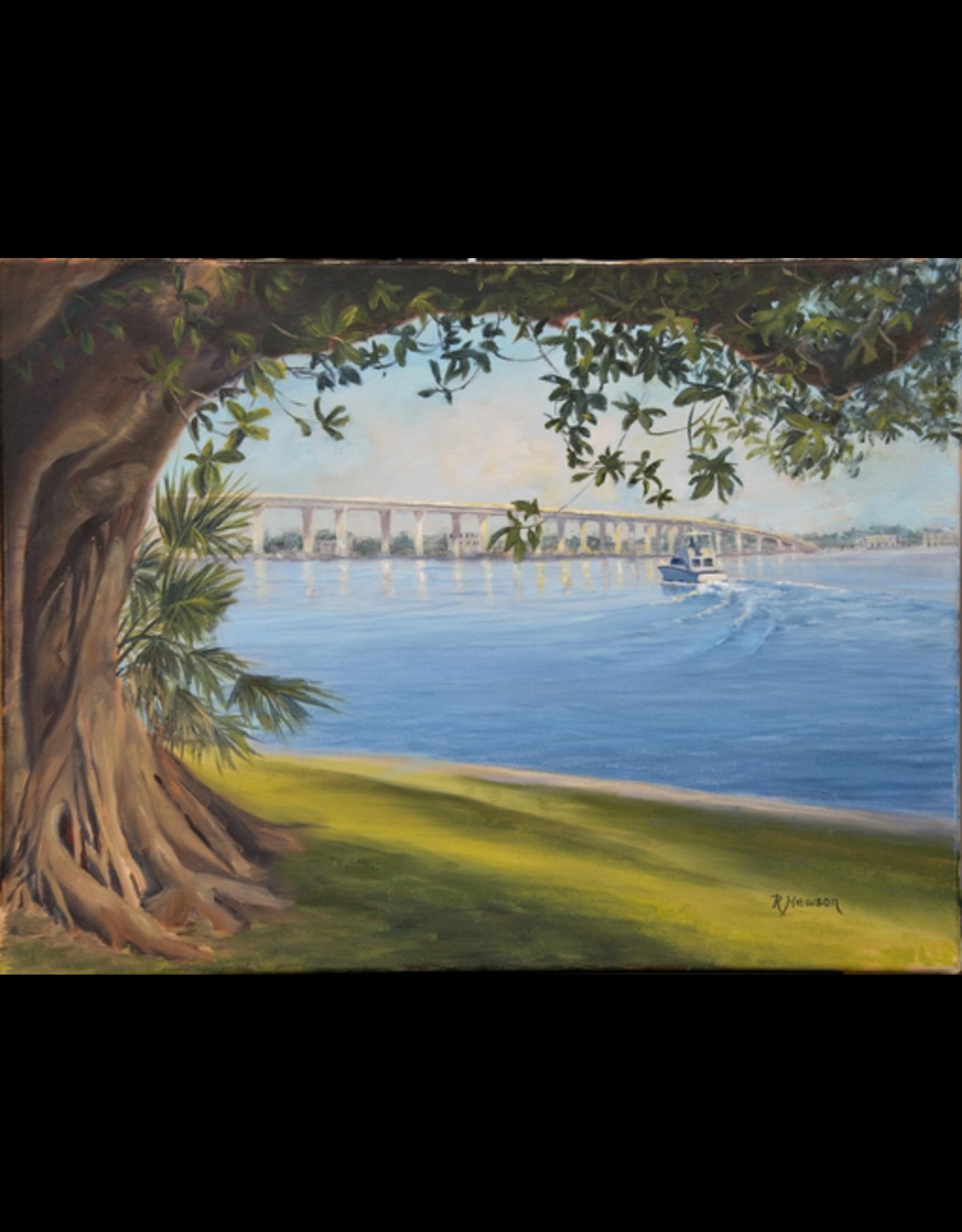 Ruthann Hewson Approaching the Roosevelt (Giclee, Framed, 18x24, RUTH)