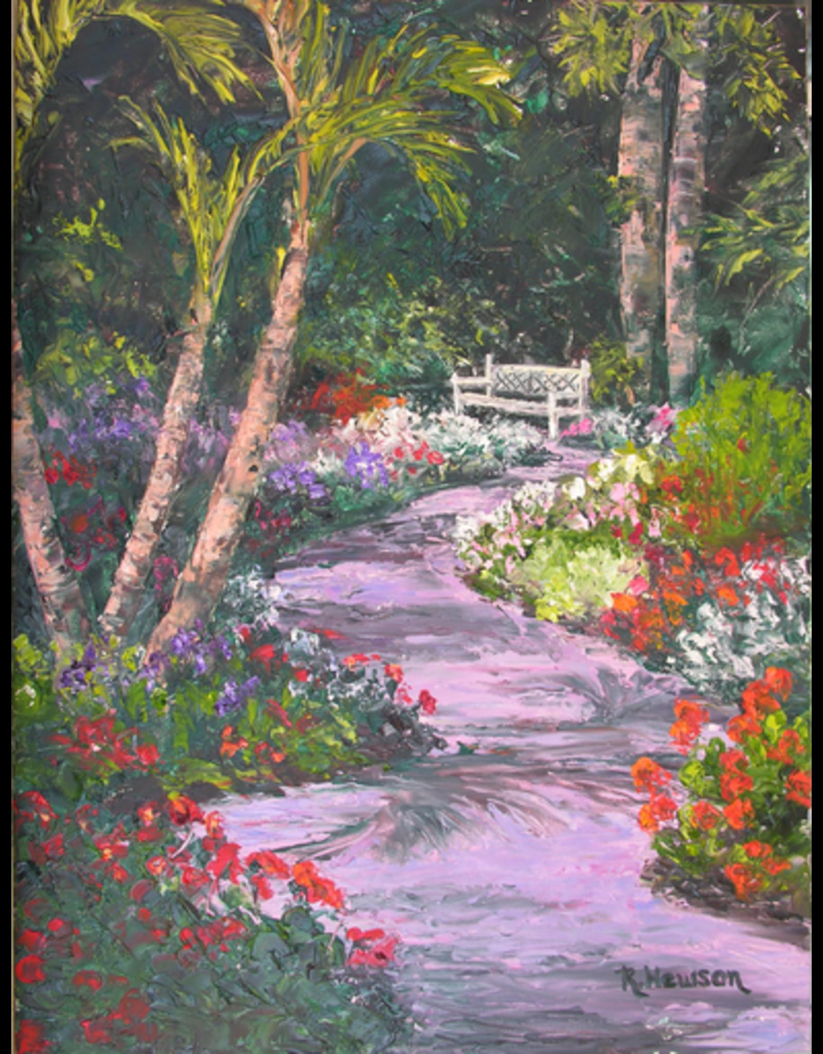 Ruthann Hewson Hallowed Grounds Garden (Print, Matted, 11x14, RUTH)