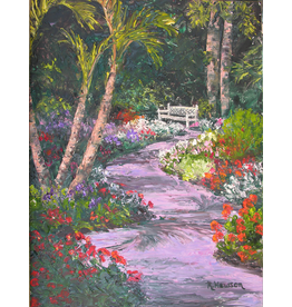 Ruthann Hewson Hallowed Grounds Garden (Print, Matted, 11x14)