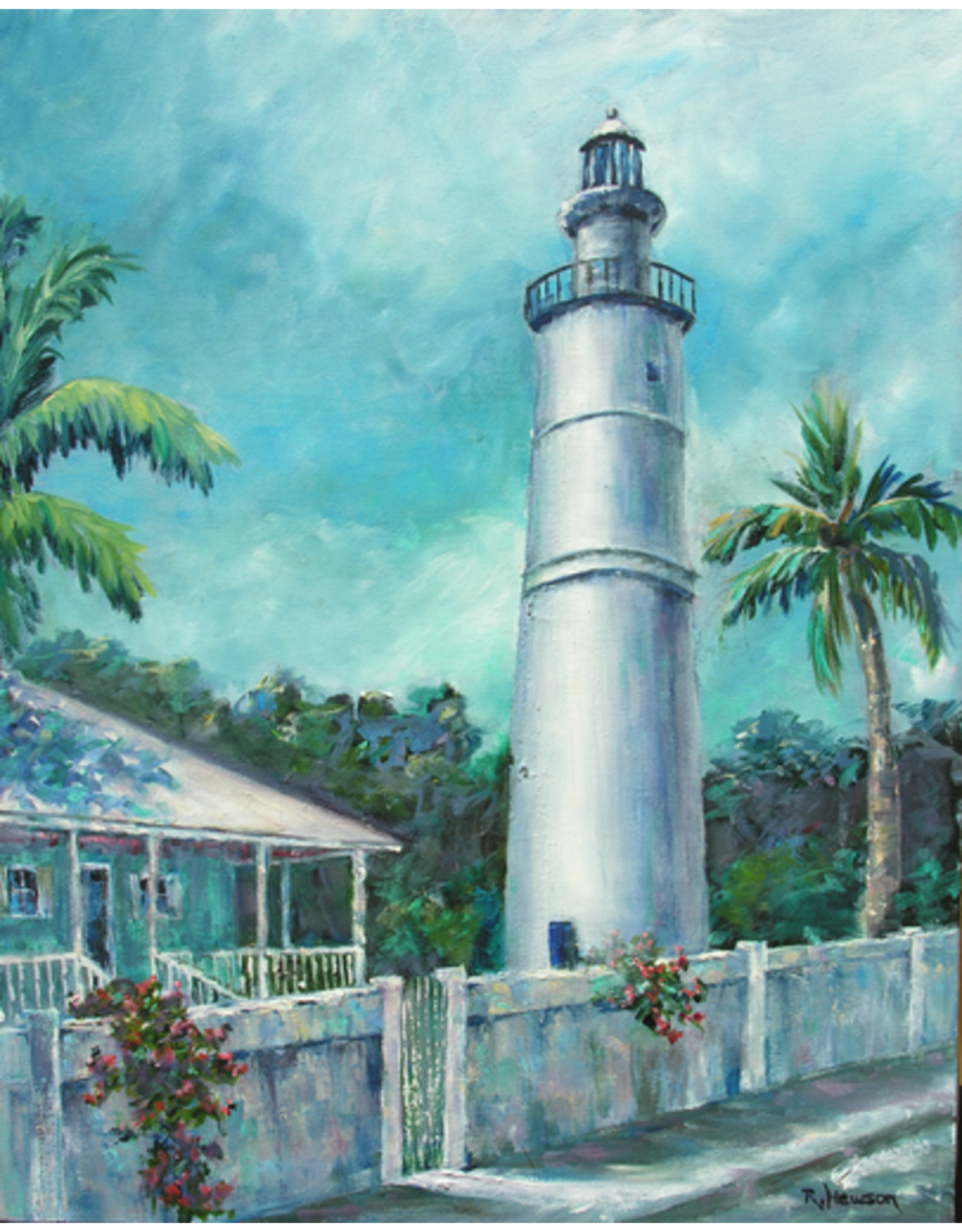 Ruthann Hewson Key West Light (Print, Matted, 11x14, RUTH)
