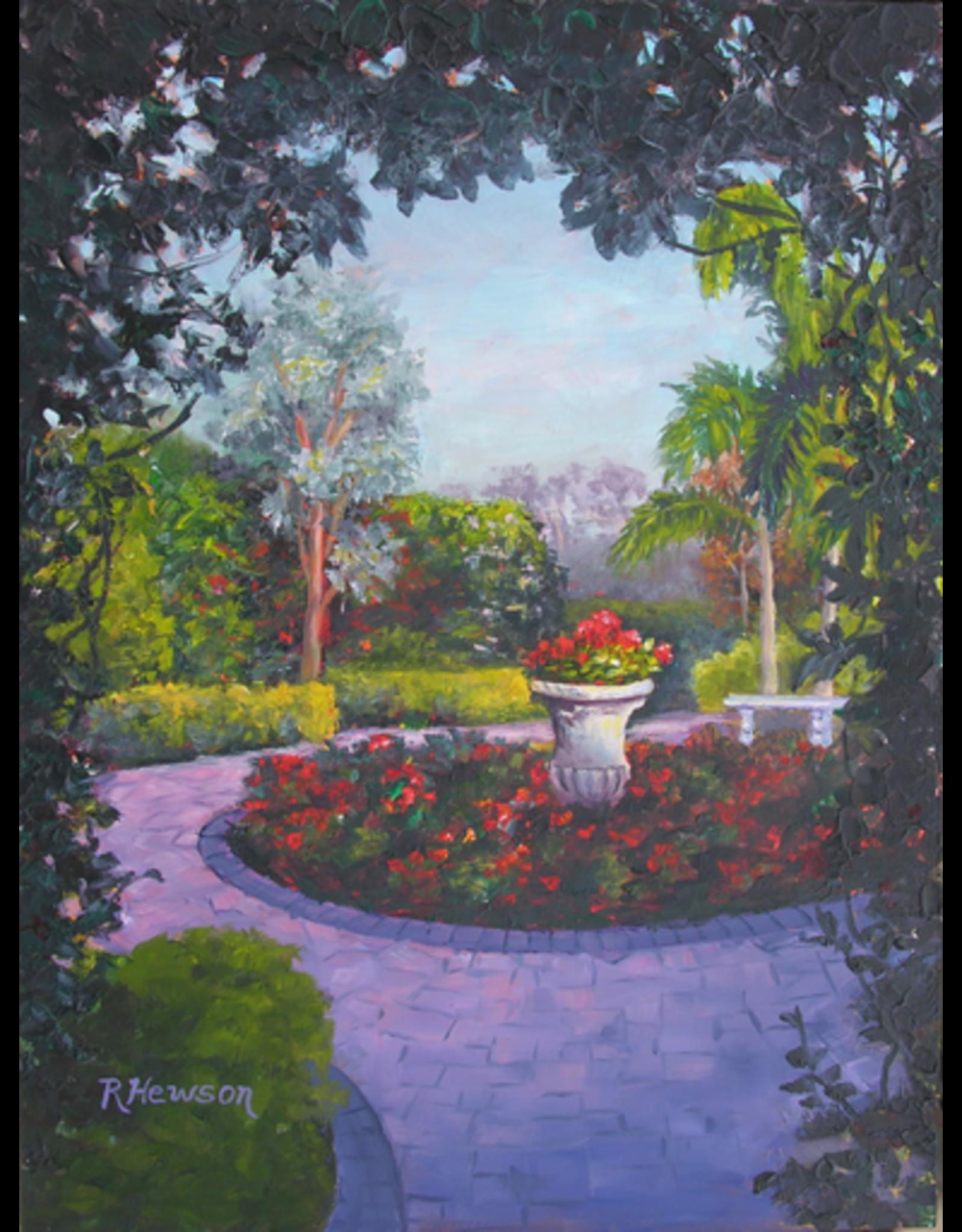 Ruthann Hewson Mrs. Smith's Garden (Print, Matted, 11x14, RUTH)