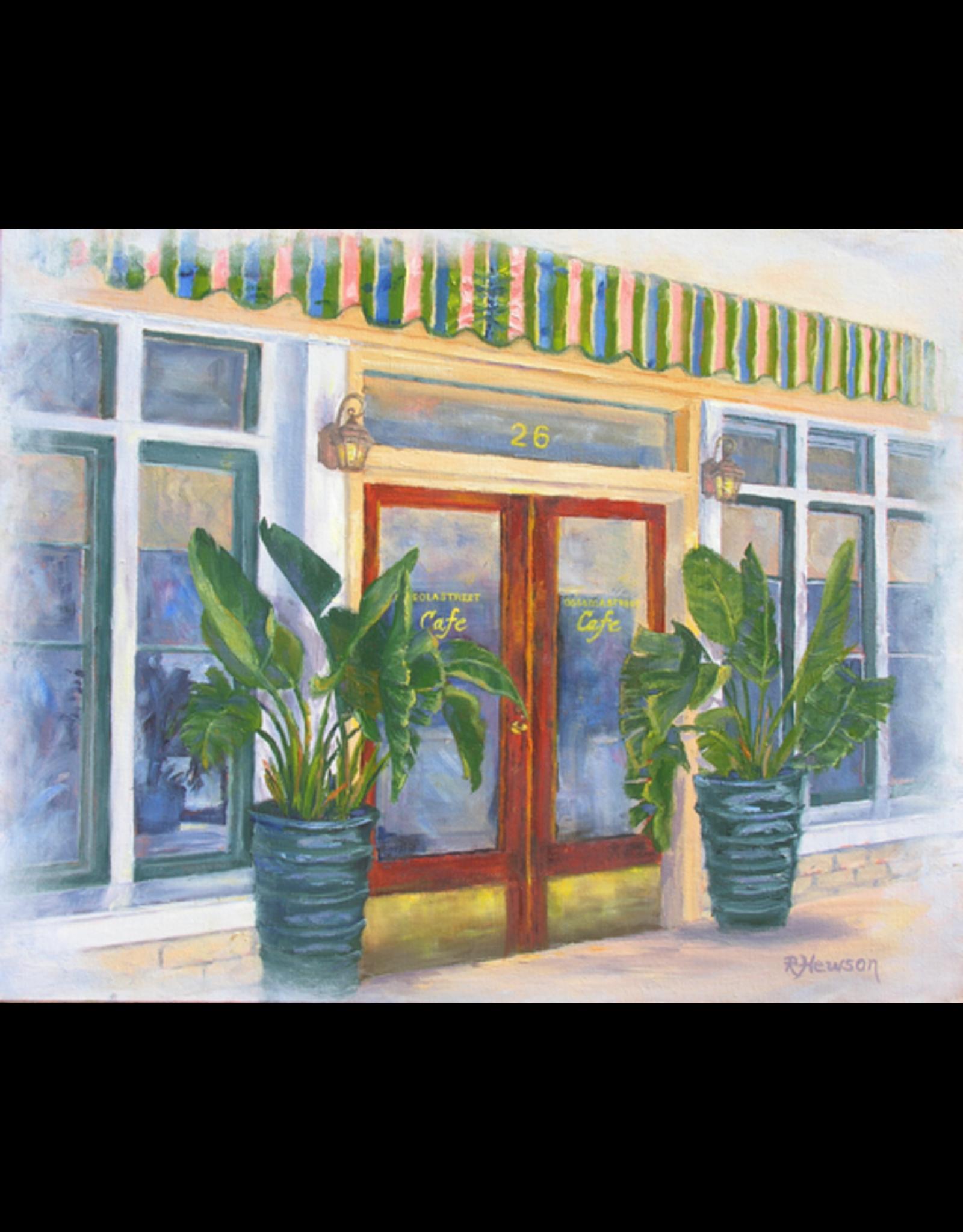 Ruthann Hewson Osceola St. Cafe (Print, Matted, 11x14)