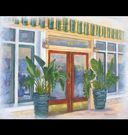 Ruthann Hewson Osceola St. Cafe (Print, Matted, 11x14, RUTH)