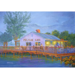 Ruthann Hewson Pelican Cafe (Print, Matted, 11x14, RUTH)