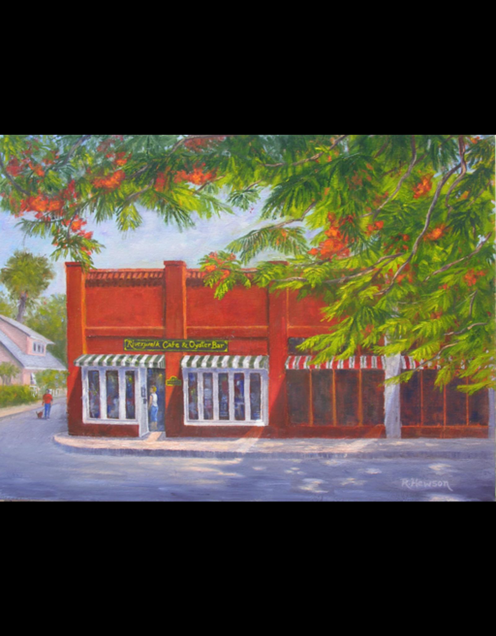Ruthann Hewson Riverwalk Cafe (Print, Matted, 11x14)