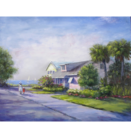 Ruthann Hewson Seminole St. Stroll (Print, Matted, 11x14, RUTH)