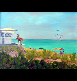 Ruthann Hewson Guarding Life - Jensen Beach (Print, Matted, 11x14)