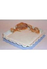 "Charlestowne Porcelaine PLATE (Bead or Rim, 8""SQ, #11, CHAP)"
