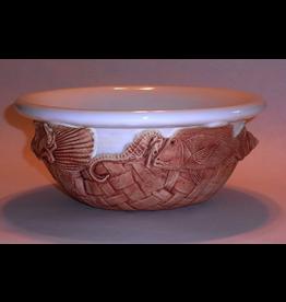 Charlestowne Porcelaine BOWL (2 Qt., Salad, RND, Gator, #31G)
