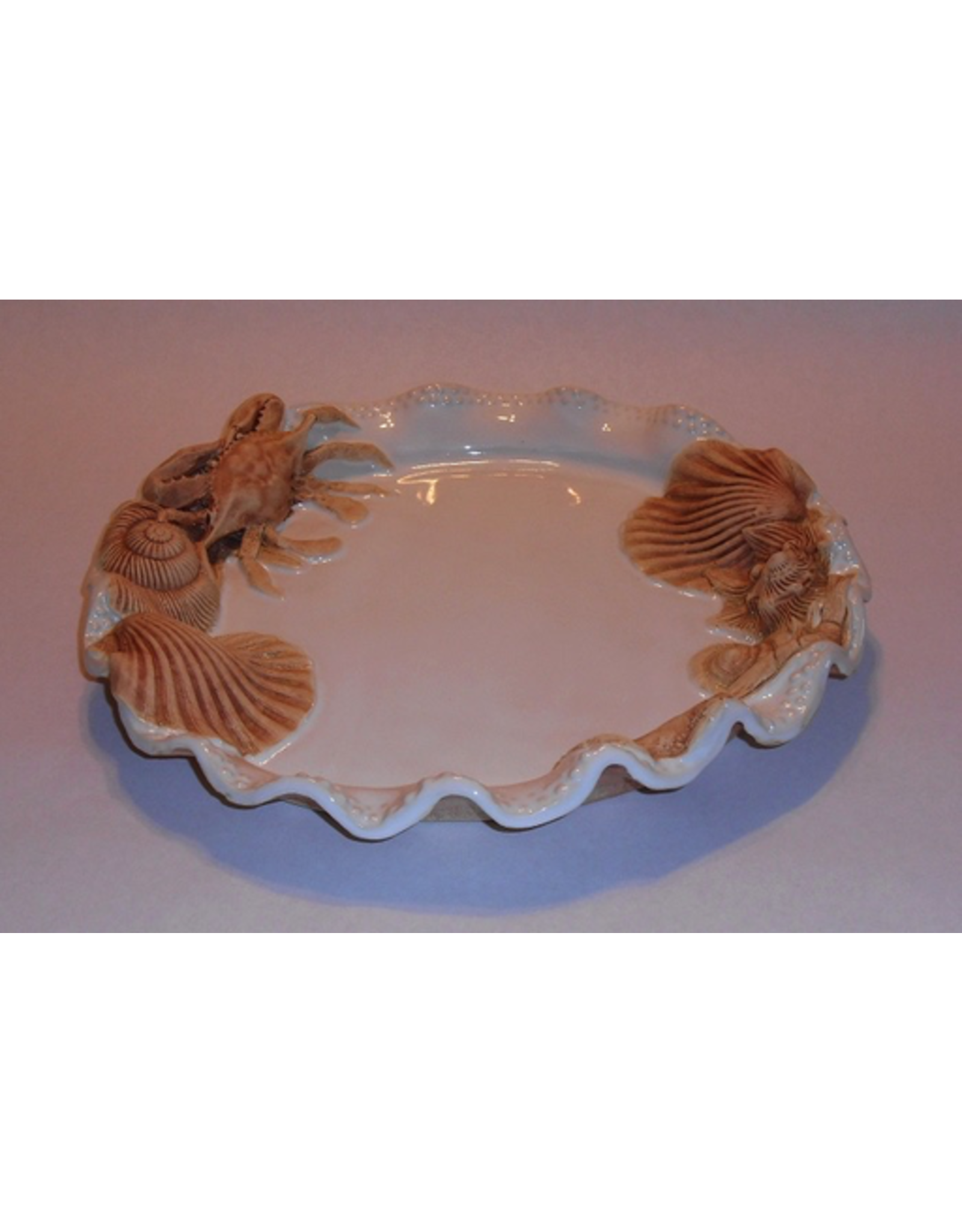 Charlestowne Porcelaine PLATTER (w/Tex Armadillo, Beaded, RND, #54, CHAP)