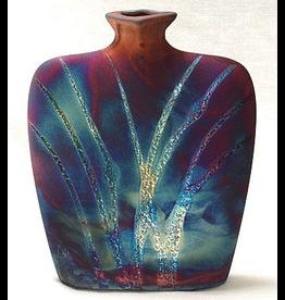 Raku Art Vase (Raku, Flask, #165)