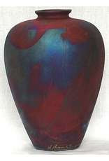 "Raku Art BOTTLE VASE 12"" H (RAKU, #069)"