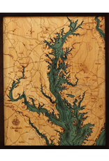 WoodCharts Chesapeake Bay (Bathymetric 3-D Nautical WOODCHART)