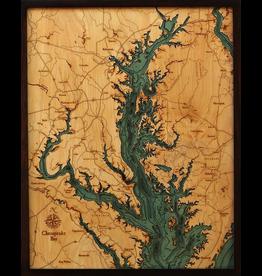 WoodCharts Chesapeake Bay (Bathymetric 3-D Nautical WOODCHART)