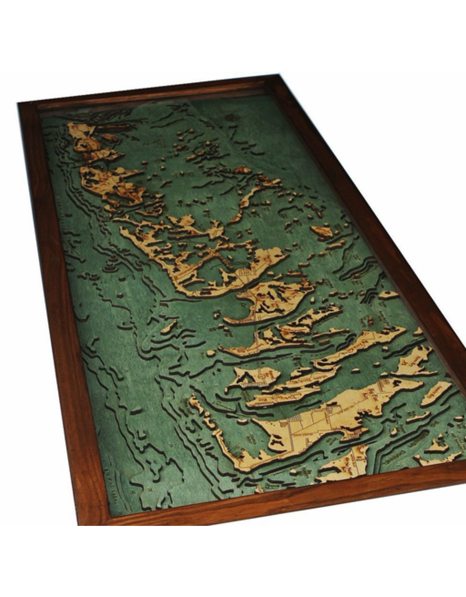 WoodCharts Lower Florida Keys (Bathymetric 3-D Nautical WOODCHART)