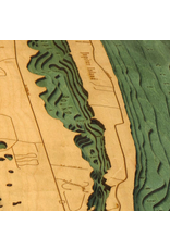 WoodCharts Jupiter island (Bathymetric 3-D Nautical WOODCHART)