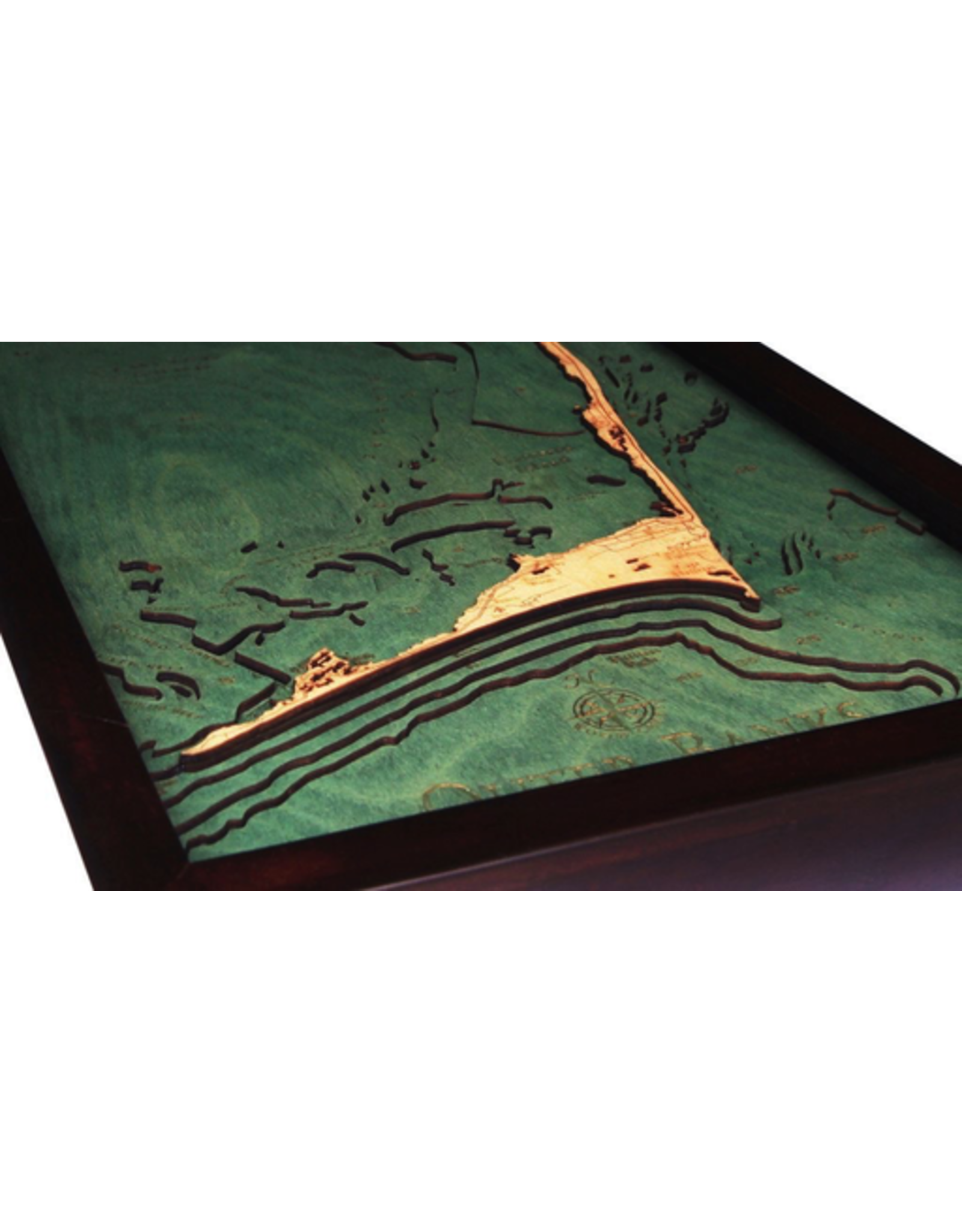 WoodCharts Outer Banks, NC (Bathymetric 3-D Nautical WOODCHART)