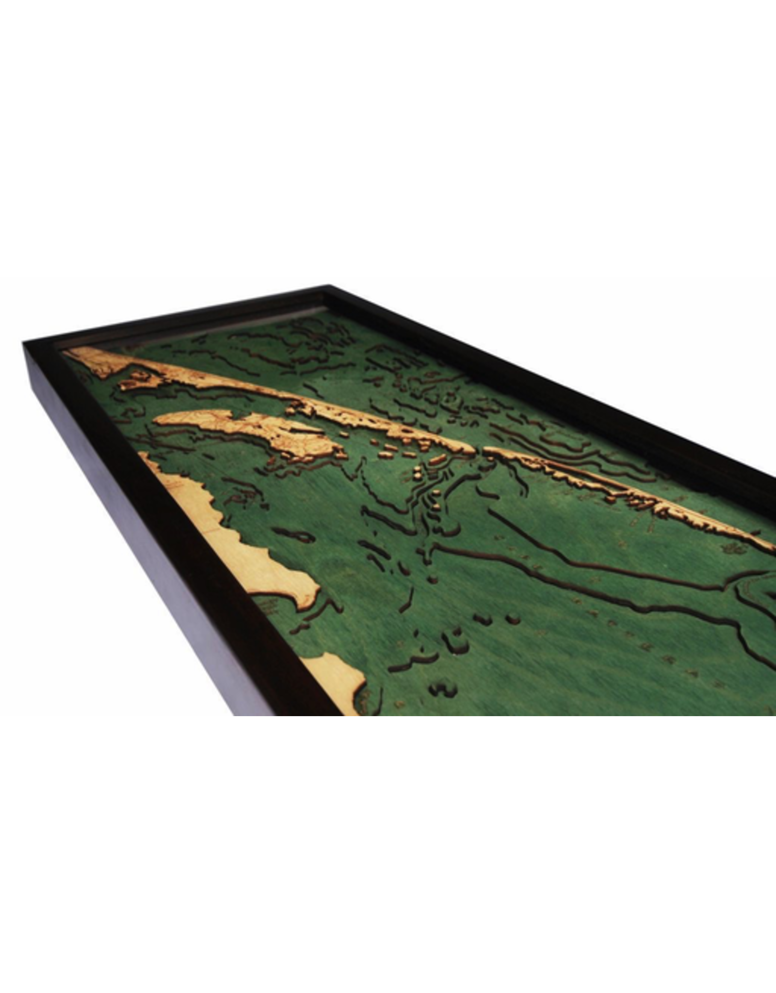 WoodCharts Outer Banks, NC (Bathymetric 3-D Wood Carved Nautical Chart)