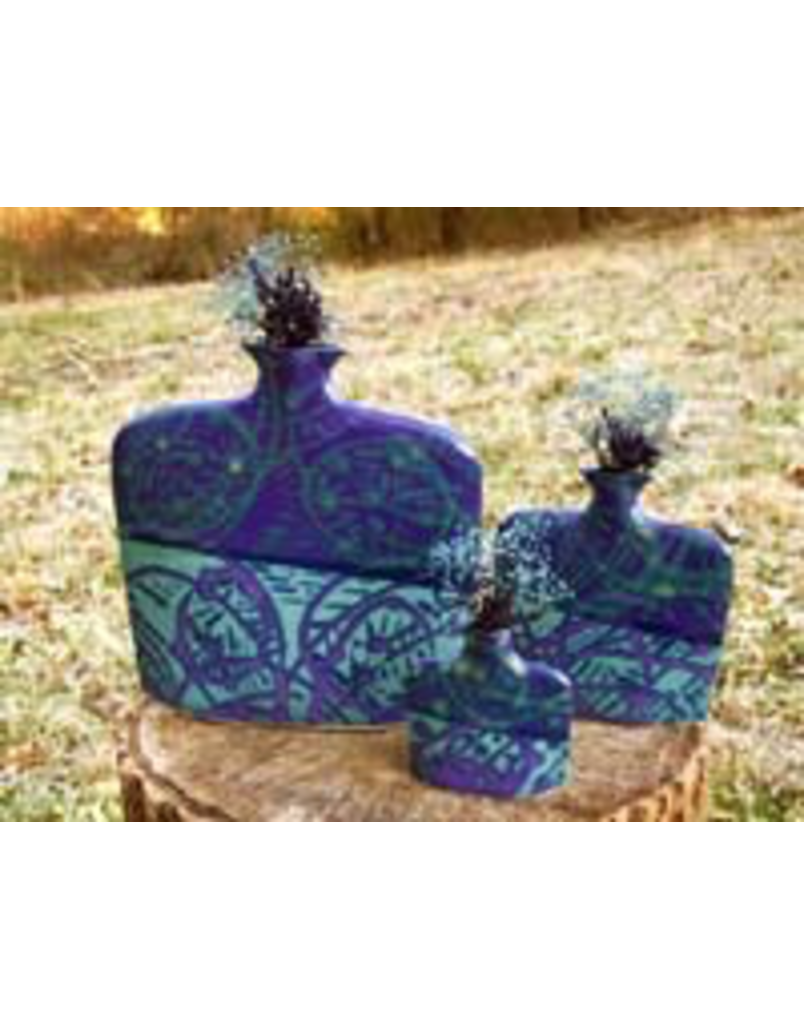 Earth & Sky Pottery Porcelain Slab Flower Vase (Lg, ESP)