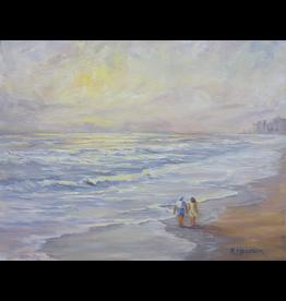 Ruthann Hewson Beach Walk (Print, Matted,  11x14)