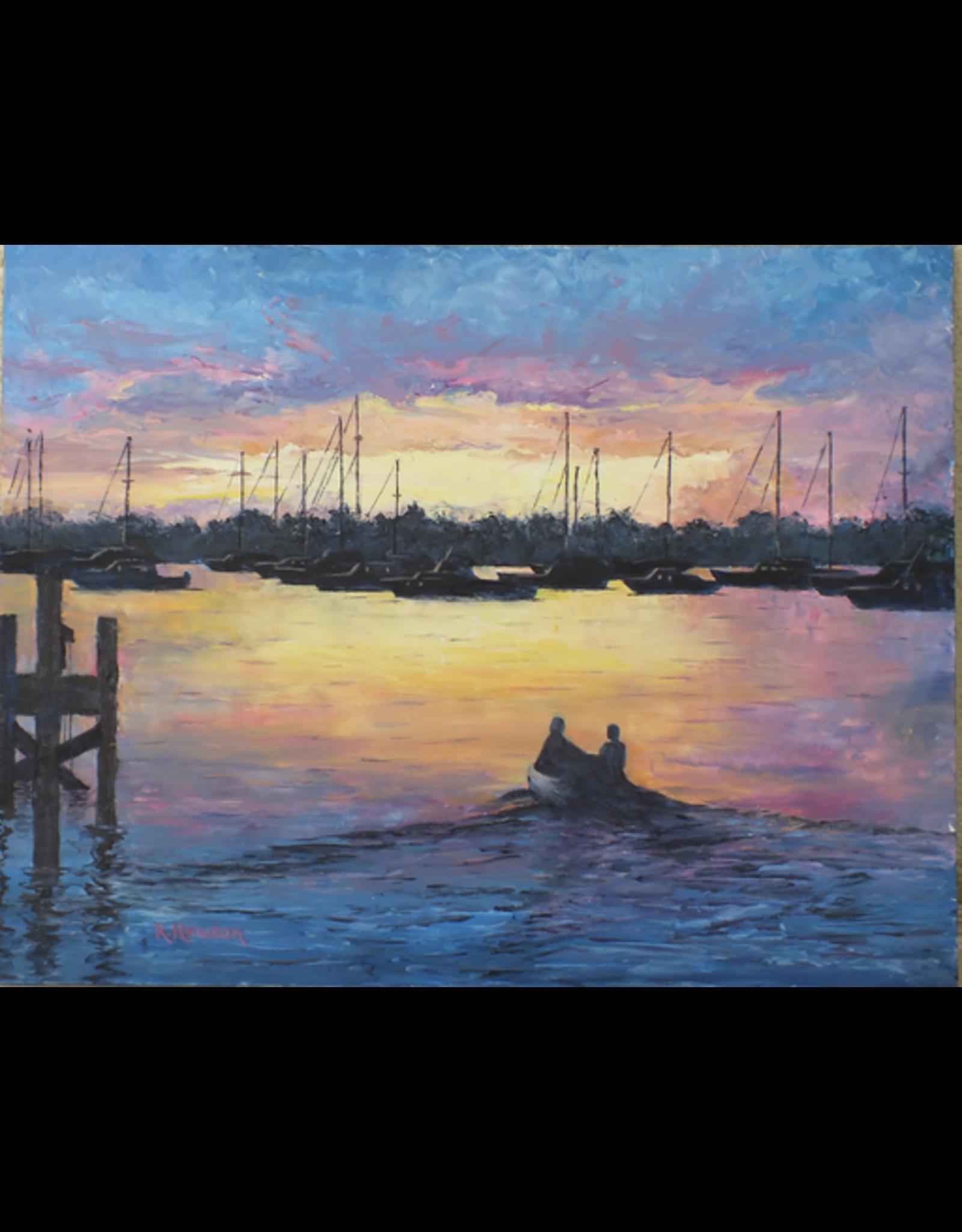 Ruthann Hewson Sunset Bay Sailors (Print, Matted, 11x14, RUTH)